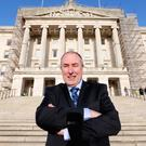 Sinn Fein's Mitchel McLaughlin outside Parliament Buildings. His election shows that our government is working