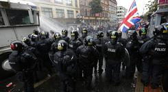The anti-internment parade and loyalist counter-demonstration two years ago were followed by days of rioting in Belfast