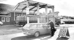 The Customs checkpoint between Newry and Dundalk in 1981. Martin McGuinness is convinced the border will disappear, but is not putting a date on reunification