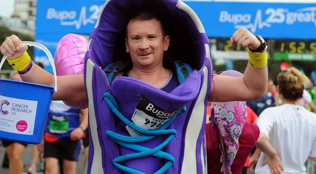 Shoe in: a charity runner