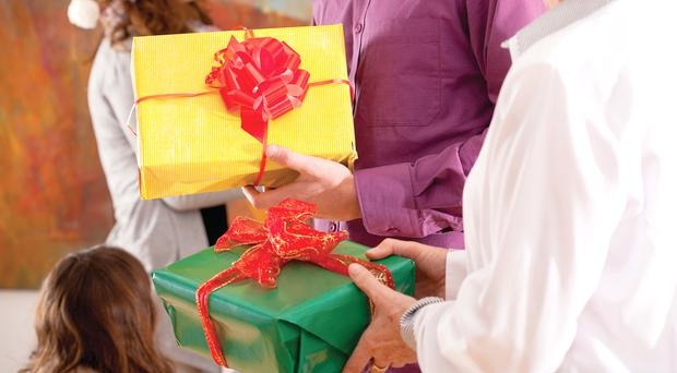 Time of giving: exchanging gifts