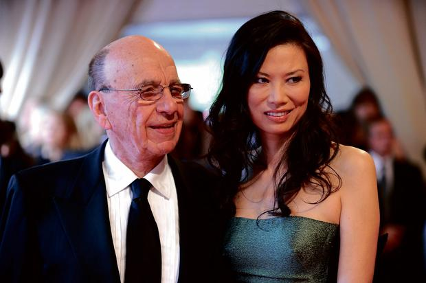 Breaking up: Rupert Murdoch and wife Wendi
