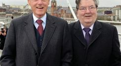 Top billing: My flat mate impersonates Bill Clinton