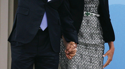 Reality check: President Obama, here with wife Michelle, isn't convincing