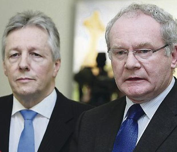 Political tension: Peter Robinson and Martin McGuinness