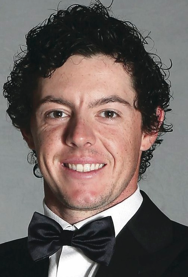 Seeing double: Caroline Wozniacki thinks that Rory (pictured) looks like Harry Styles...