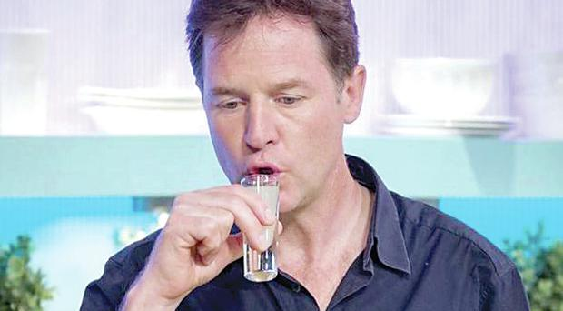 Nick Clegg on Channel 4's Sunday Brunch