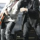 U2's The Edge and Bono on stage