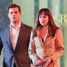 Jamie Dornan and Dakota Johnson star in Fifty Shades of Grey