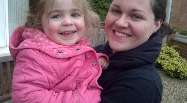 Special bond: Claire and daughter Katie