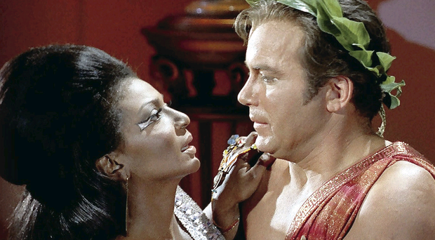 The kiss between Kirk and Uhura