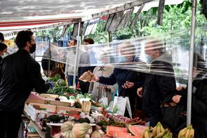 Markets, cafes and restaurants reopened in France this week, but with new hygiene measures