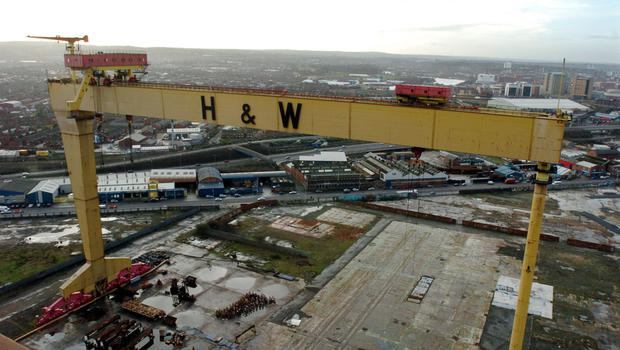 The bright yellow Harland and Wolff cranes are the best piece of public art that Belfast has