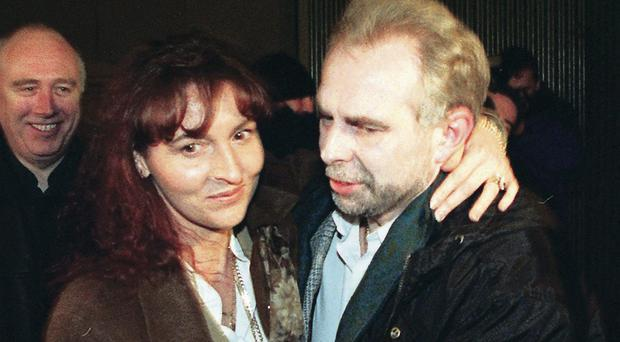 Offensive: Paul Kavanagh with his wife Martina Anderson.
