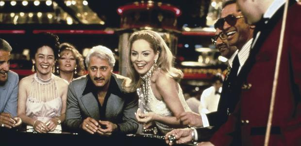 Roll 'em: Sharon Stone tries her hand at blackjack in Hollywood blockbuster Casino