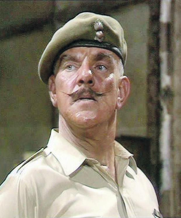 Actor Windsor Davies in It Ain't Half Hot Mum