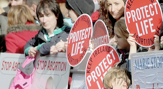 An anti-abortion protest