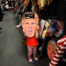 Scary story: Halloween costumes, like this Donald Trump one on sale in America, have always been irreverent, even if some are in dubious taste