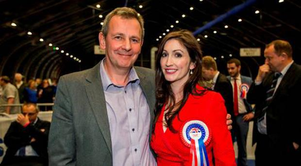Richard Pengelly with wife Emma Little Pengelly, a DUP Assembly candidate