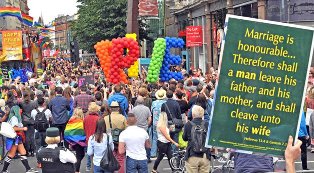 Changed times: the Belfast Pride march had the backing of some DUP members