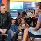 Liam Neeson with host Robin Roberts on a US talk show the day after the furore erupted