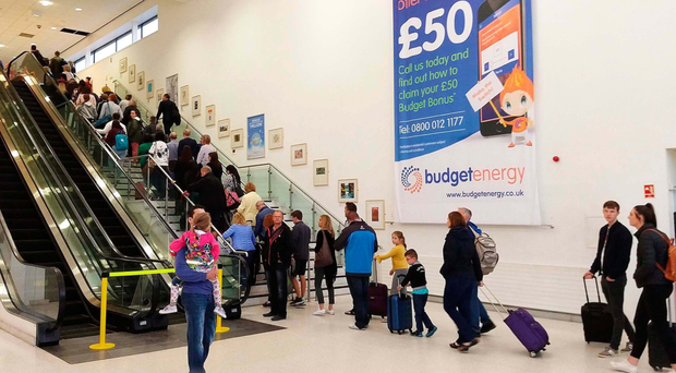 Queues at Belfast International Airport have even led to some people missing their flights