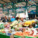 St George's Market is one of the few places open in Belfast on a Sunday morning