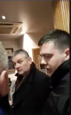 Stills from Kevin Magee's documentary in which the BBC reporter was confronted by so called paedophile hunters including George Keenan