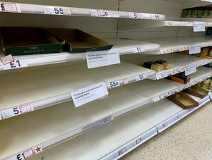People panic buying has been evident during this crisis