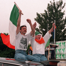 Celebrations following the IRA ceasefire on August 31, 1994