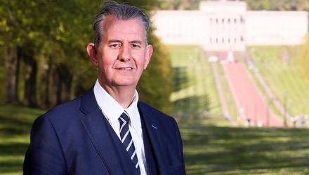Contender: Can Edwin Poots become a pragmatic leader of the DUP? Credit: Jonathan Porter / Press Eye