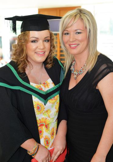 Michelle O'Neill and her daughter Saoirse