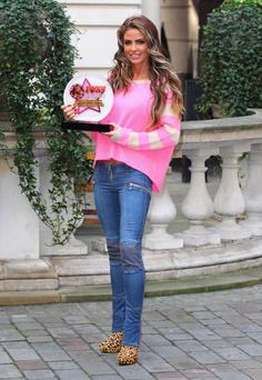 Loving mum: Katie Price