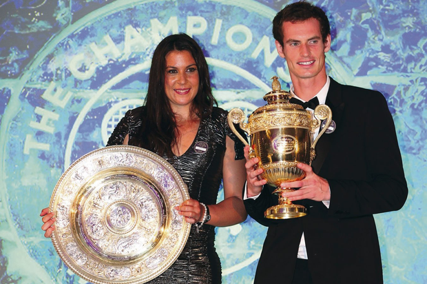 Champion duo: Marion Bartoli and Andy Murray