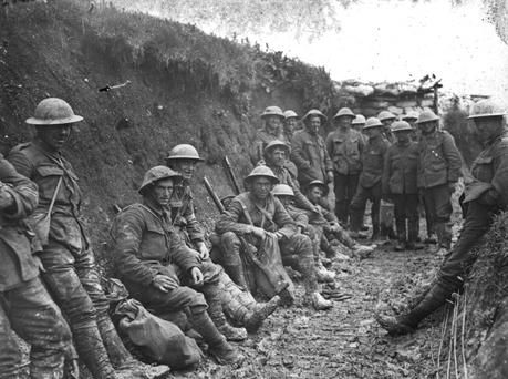 First World War image shows British soldiers in trenches. File image