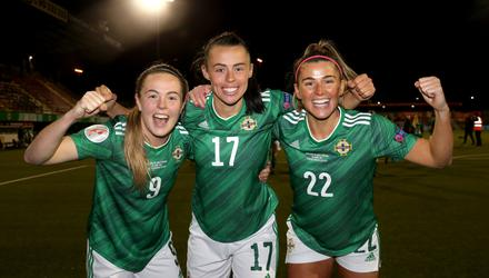 'Congratulations to the Northern Ireland women's football team on this week's historic and wonderful result, which sees them through to the Euro 2022 finals.'