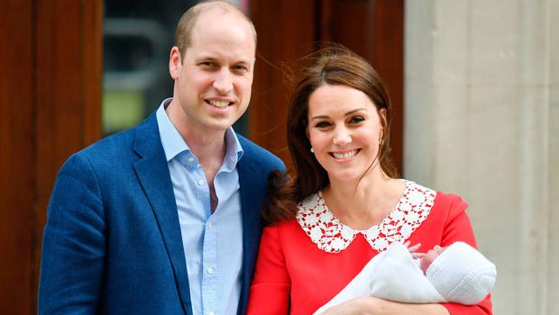 Proud moment: the Duke and Duchess of Cambridge and their newborn son Louis outside the Lindo Wing at St Mary's Hospital in Paddington, London