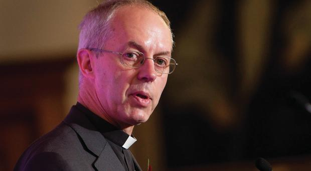Lesser evil: Archbishop of Canterbury Justin Welby defended lenders