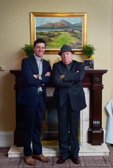 Laughing matter: Rory McIlroy with Van Morrison