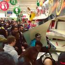Trouble instore: crowds at last year's free-for-all