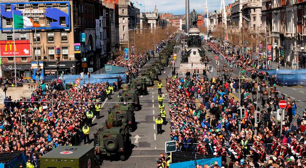 Dignified approach: the 1916 commemoration brought the city to a standstill