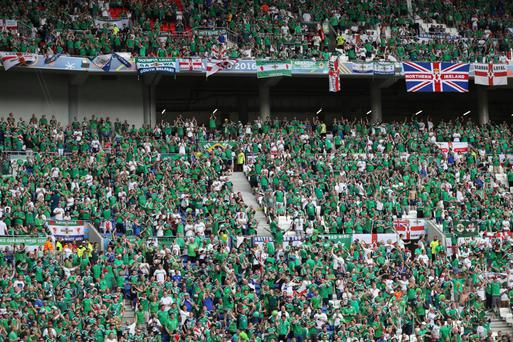 Infectious fun: Northern Ireland fans have been fantastic