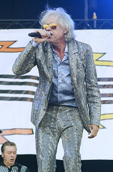 Mega mouth: Sir Bob Geldof unleashed a tirade at Brentwood festival-goers