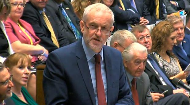 Tight grip: Jeremy Corbyn aims to retain the Labour leadership