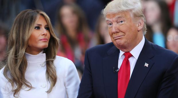 First couple: Melania Trump with husband and President-elect Donald Trump