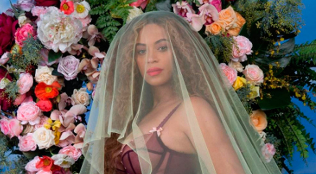 Naked ambition: Beyonce in one of her photographs released to announce she was pregnant