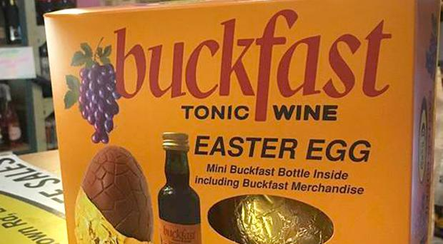 No cheer: the Buckfast Tonic Wine Easter Egg which included a small bottle of the drink has been withdrawn