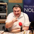 Stephen Nolan was snapped by amateur paparazzi while eating his dinner.