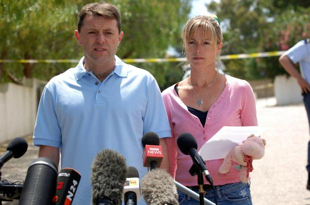 Distraught parents: Kate and Gerry McCann shortly after thier daughter Madeleine went missing