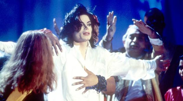 Problem poses: Michael Jackson at the Brit Awards in 1996
